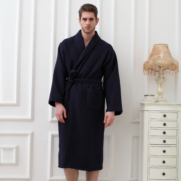 baby search for original new high quality 2019 Bath Robe Men Warm Cotton Robes For Men Dressing Gown Bathrobe Towel  Fleece Bathrobe Men'S Robes Kimono Robe White Pink From Housecoat, $117.77  | ...