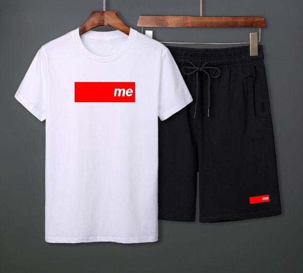 2019 spring summer new short-sleeved suit hip hop men's fashion trend famous brand large size men's Short sleeved suit L-4XL, hot sale