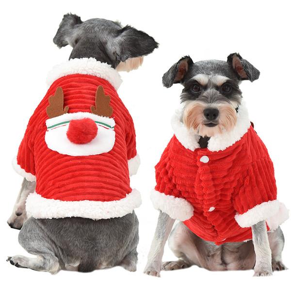 Estrella Christmas Elk Pattern Pet Coat Ropa para perros Warming Winter Outerwears Pet Supply Warming Coat Envío gratis