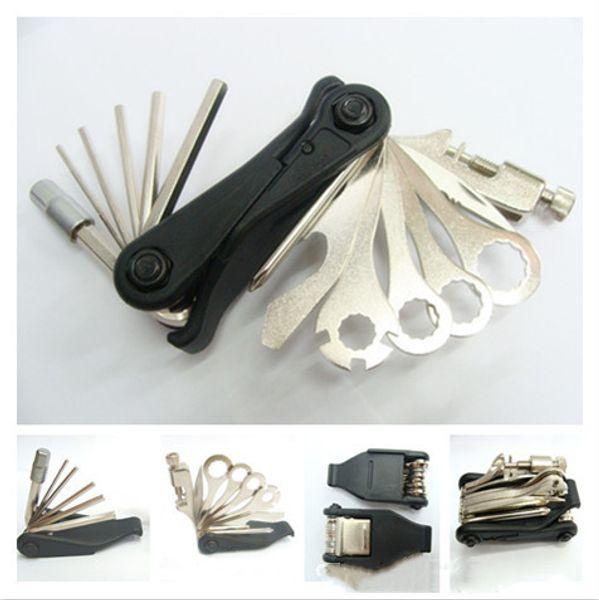 متعددة الوظائف أدوات تصليح الدراجات تناسب + قطع سدادة أدوات إصلاح MTB دراجة