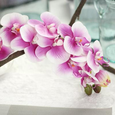 New Arrival 72cm Artificial Butterfly Orchid Flower PU Latex Material Real Touch Phalaenopsis Wedding Decoration Flores