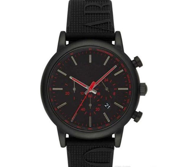 Lüks tasarımcı İzle Moda erkekler İzle ar11024 kuvars brack dial paslanmaz çelik kasa saatler Saatı montres kutusu ile hommes dökün