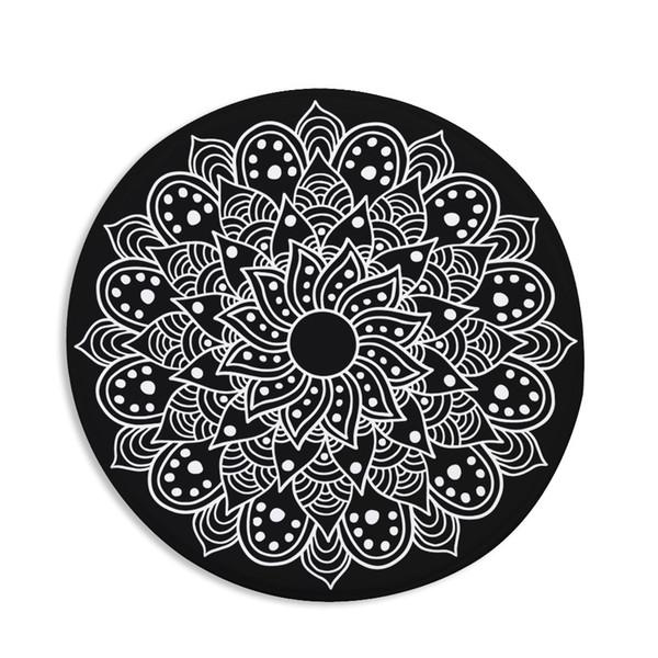 Bohemia Mandala Printed Round Rugs for Living Room Doormat Non-slip Soft Kitchen Carpets Floor Mats Bedroom Chair Rug