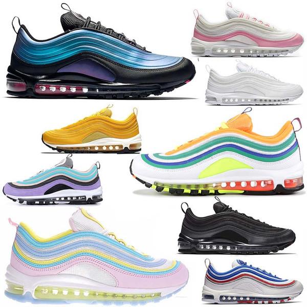 Compre Nike Airmax Air Max 97 97s Zapatillas De Diseñador Para Hombre Zapatillas De Tiro Con Lengüeta Para Correr Zapatillas Deportivas Blancas Y