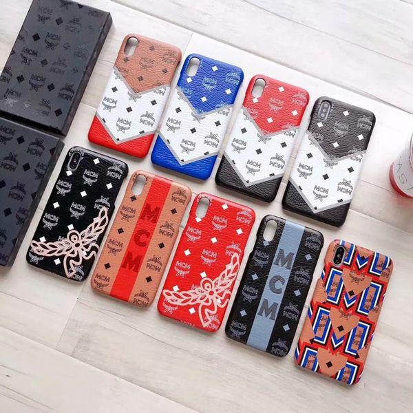 Роскошный телефон чехол для iPhone X XR XS Макс 8 7 6 6S Plus кожаный жесткий дизайнерский че