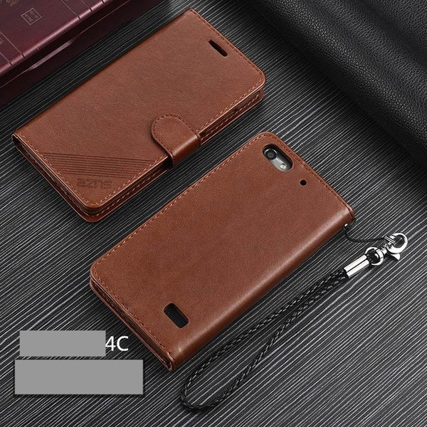 wholesale Honor 4C PU Leather Case Flip Cover Card Holder Wallet Case for Huawei Honor 4C protective holster fundas coque
