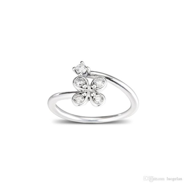 2019 2019 Spring 925 Sterling Silver Rings Four Petal Flower Ring Original Fashion Engagement Wedding Pandora Rings Diy Charms Jewelry For Women From