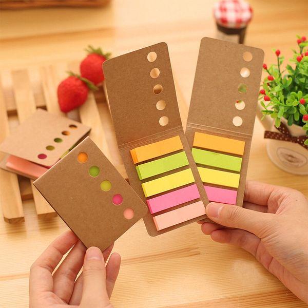 Note adesive di copertina Kraft note adesive note adesive colorate per la scuola e l'ufficio