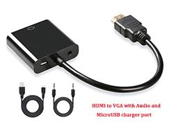 with Audio and MicroUSB charger port