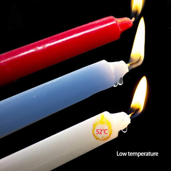 Großhandel 10 sätze / los Niedertemperatur Kerze Bdsm Tropfkerzen SM Bettfesseln Für Frauen Männer Sex Bondage Sinnliches Wachs Erotische Spielzeug