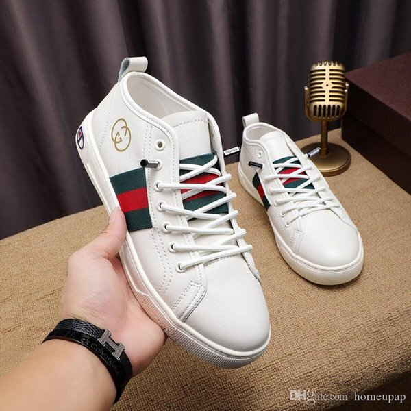 Deri Beyaz ayakkabı erkekler Bahar Ve Sonbahar 2019 Yeni Moda Vahşi Nefes Spor Ayakkabı Beyaz ayakkabı erkekler