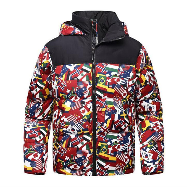 neve do inverno de montanha dos homens de algodão norte enfrenta jaquetas de moda Goose casaco à prova de vento esporte ao ar livre jaqueta thicking homem de veludo roupas quentes