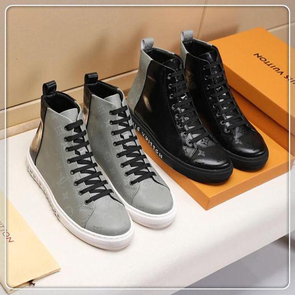 chaussures de sport casual 2019K hommes de printemps et d'automne baskets haut-dessus, cuir avec micro standard, avec la boîte d'origine une livraison rapide