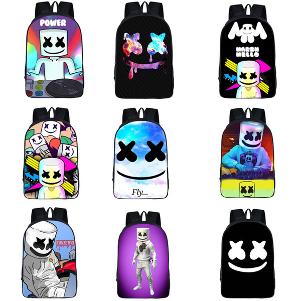 Multi-function Stereoscopic Shoulders Bag 42 Design Cartoon Letter Dot Student Schoolbag Back To School Men High-capacity Zipper Backpack