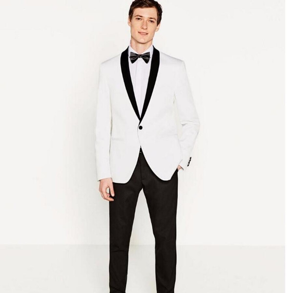 Shawl collar men's suit jacket handsome a grain of buckle leisure suit jacket the groom's best man wedding guests dresses jacke+pants