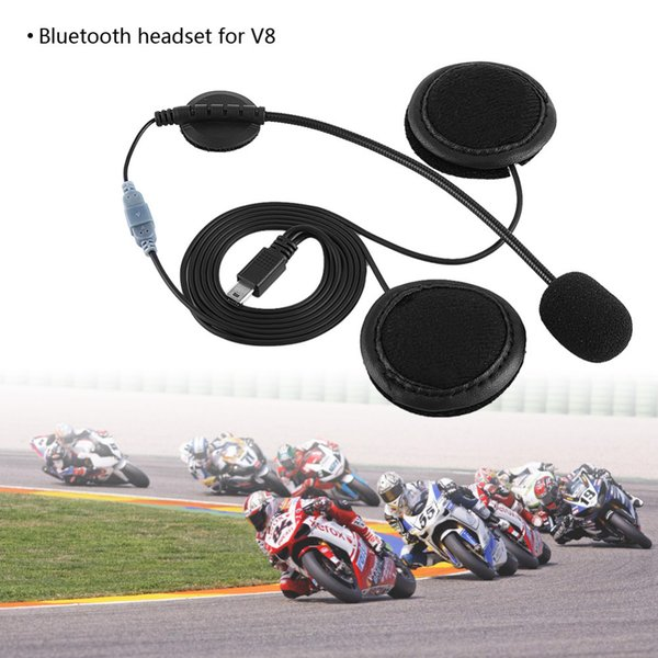 Headset Headphone Microphone For V8 Motorcycle Helmet Intercom Motocicleta Accessories Accessories Bluetooth Bluetooth Headset car
