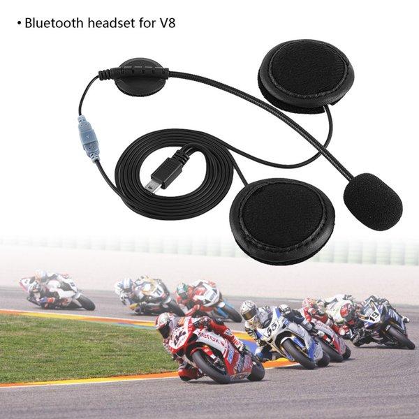 Headset Kopfhörer Mikrofon Für V8 Motorradhelm Intercom Motocicleta Zubehör Zubehör Bluetooth Bluetooth Headset Auto