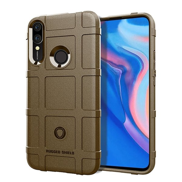 For Huawei Y9 Prime 2019 Case Cover Soft Hybrid Armor Silicone Rubber Rugged Matte Finished Shield Fingerprint Proof Non-Slip
