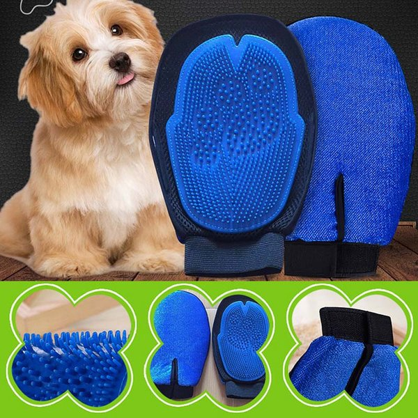Dog Pet Brush Glove Double Side Deshedding Cat Grooming Supply Glove Dog Bath Cat Cleaning Supplies Brush Pet Glove Dog Combs BH2173 TQQ