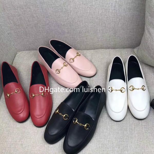 Marke Pantoletten Princetown Männer Frauen Freizeitschuhe aus echtem weichem Leder Luxus Designer Fashion Metallschnalle Männer und Frauen Lazy Schuhe Großhandel