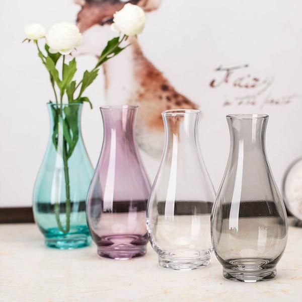 Modern Vaso di vetro multicolore Terrarium Contenitori di vetro Vasi di fiori Decorazione di nozze Centrotavola Piccolo vaso di fiori