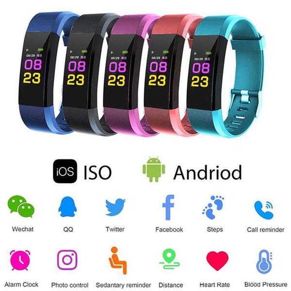 Smart Fitness Bracelet band 3 ID115 Plus Blood Pressure Oxygen Sport Tracker Watch Heart Rate Monitor Wristband Pk Fitbit 006
