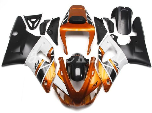 New ABS motorcycle Fairing Kits Fit For YAMAHA YZF-R1 98 99 YZF1000 1998 1999 R1 fairings bodywork set orange black white