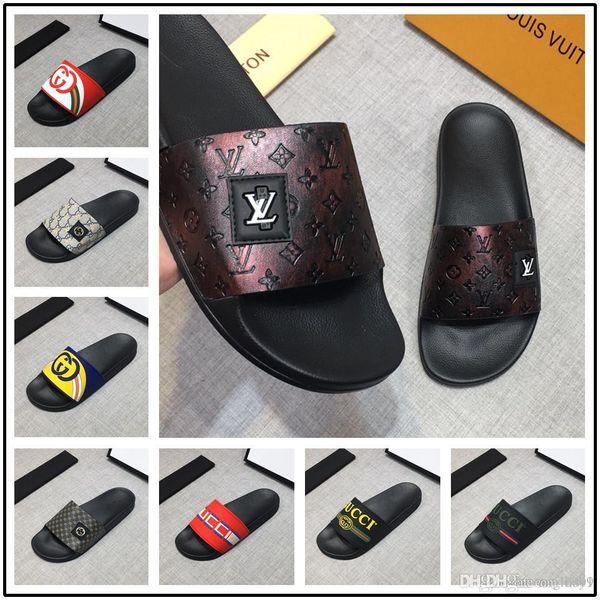 Con caja Verano Nuevo Diseñador de lujo BB Letras completas Impreso Sandalias flip flop Moda Hombre Mujer Deslizadores Verano Playa Zapatillas Zapatos al aire libre
