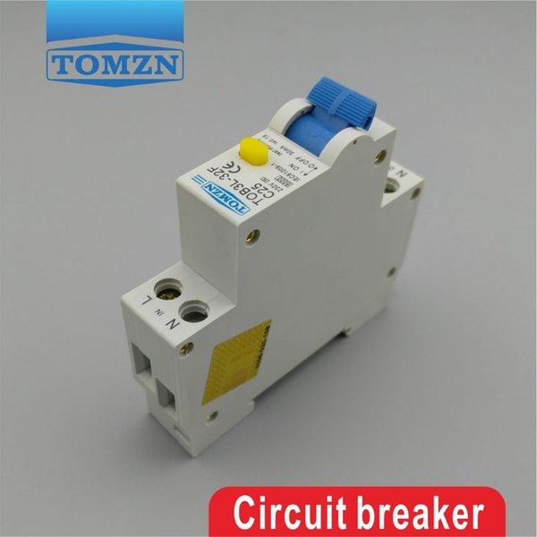 전류 및 누설 보호를 통해 홈 개선 TOB3L-32F 18MM RCBO 25A 1P N 6KA 잔류 전류 회로 차단기