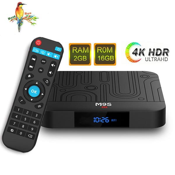 Amlogic S905W M9S W1 2GB 16GB TV Box Quad-core Android 7.1 TV Streaming Boxes M9S S905W mejor que TX3 X96 H96 S905X2 RK3328 TV Box