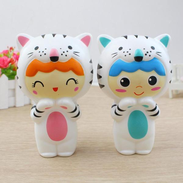 TF Squishy Oyuncaklar Çocuklar için yavaş yükselen squishy sevimli pet kaplan Bebek jumbo squishy Dekompresyon Oyuncak kız gag oyuncaklar