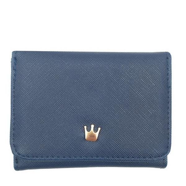 Fashion Fresh and lovely Short Wallet Women Korean Crown Simple Square Zipper Small Wallet Women's Change Wallet well selling Wallets