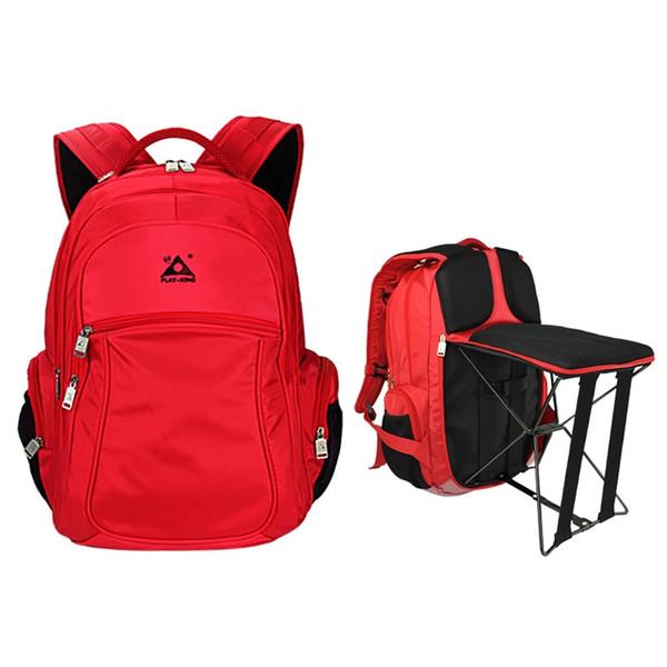 Portable Foldable Fishing Chair Bag 2 In 1 Outdoor Waterproof Backpack Steel Stool Multifunctional Climb Bag for Hiking Trekking #159252