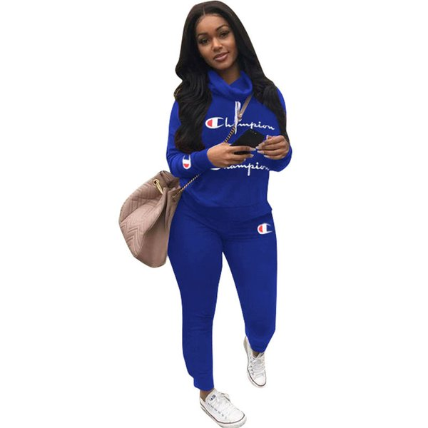 2020 Champions Women Plus Size Sportswear Hoodies Pants Jogger Suit Pullover Leggings Set Outfits S 3xl Fall Winter Clothes Outfits 1131 From Ying Clothing 21 14 Dhgate Com