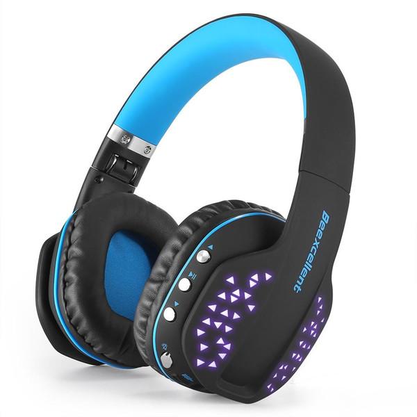 Auricular inalámbrico dinámico estéreo Q2 para auriculares con micrófono y luces LED portátil para computadora de teléfono