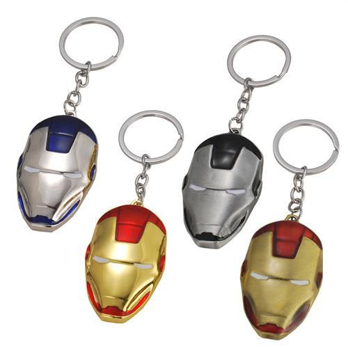 17 styles Marvel Super Hero The Avengers Iron Man Mask Metal Pendent Keychain Keyring High Quality Gift For Fans Llaveros Movie Jewe jssl001