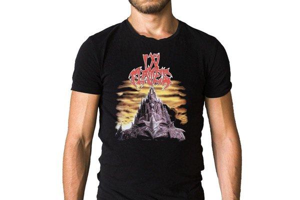 Flames içinde Jester Yarış 1996 Albümü Kapak T-Shirt Adam Hipster O-Boyun Nedensel Serin Düşük Fiyat Yuvarlak Boyun Erkekler T Gömlek Tops