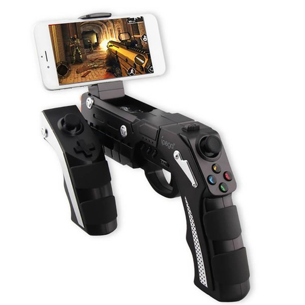 Gun Design Style Wireless Bluetooth Game Controller Joysticker Game Pad Handset for iOS Xiaomi Smartphone Samsung Black Retail Package