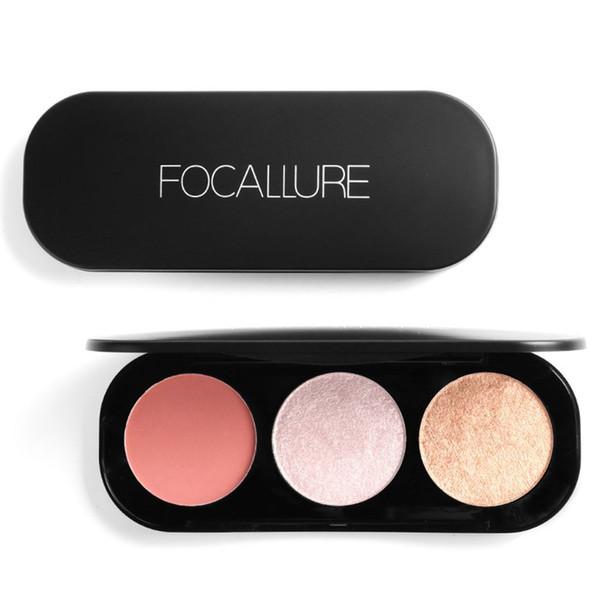 3 Colors Blusher Face Make Up Palette Natural Makeup Supplies Long-lasting Beauty Womens Blush Set LJJP330