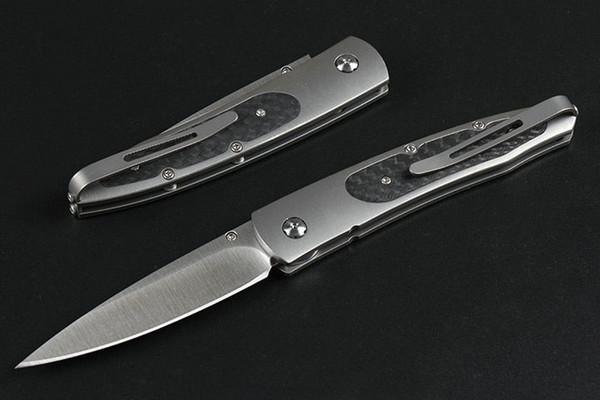 Utility Tools Coltello a lama pieghevole William Henry in lega di titanio TC4 Manico in lega di titanio M390 Coltello a lama fissa high-end EDC P905M F