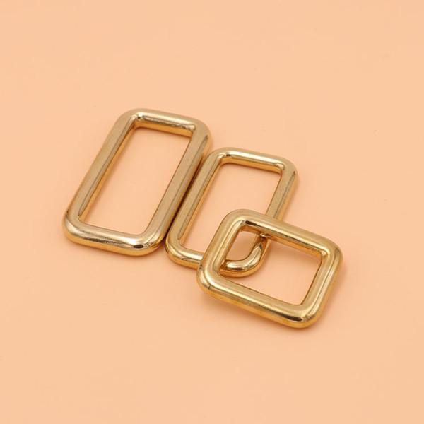 Solid Brass Metal Buckles For Bag Belt Backpack Strap Dog Collar Webbing Buckle Connector Snap Hook Clasp DIY Leather Craft