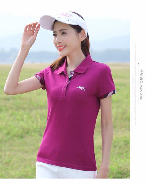 Diseñador para mujer Ropa de verano de manga corta sólida Solapa clásica Polos sólidos Bresthable Slim Fashion Sport Camisetas