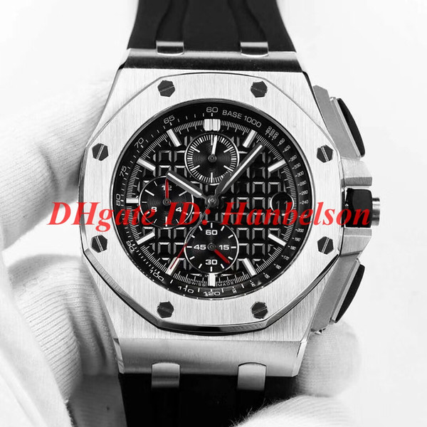 Hot sale A Royal watch orologio di lusso Quartz VK movement Multi-function stopwatch Rubber band mens designer watches relógio de luxo