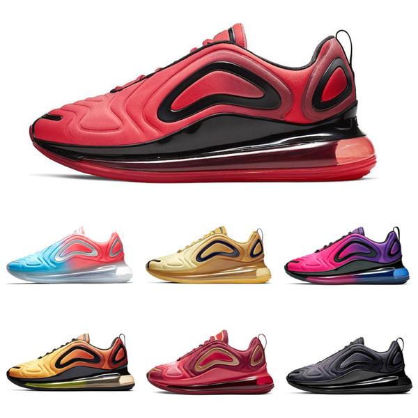 Compre Nike Air Max 720 Airmax 720 De Calidad Superior, Negro, Blanco Y Rosado Del Desierto, Calzado Deportivo, Zapatillas De Deporte De Diseño,