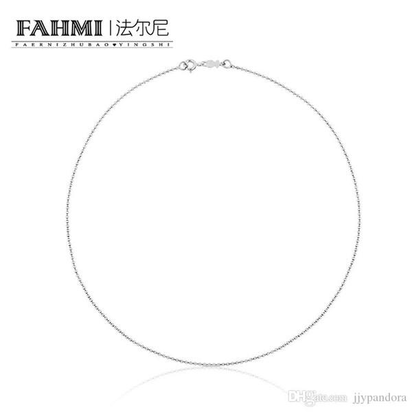 FAHMI 100% Sterling Silber Fashion Base Halskette Runde Perlenkette Einfache Paar Schlüsselbein Kette 711901270 Damen Halskette