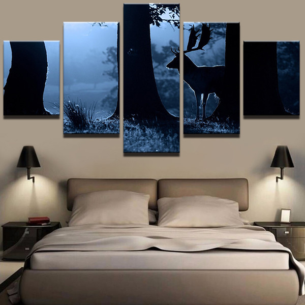 2019 Quotes Frame Modular Hd Wall Art Prints Animal Deer Pictures Simple Canvas Painting Poster Wedding Decoration Home Decor From Z793737893 9 59
