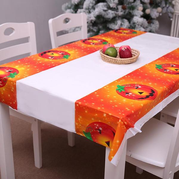 Tovaglie rettangolari del salone delle decorazioni di Halloween Tovaglia impermeabile del PE dell'osso della zucca di Halloween Vendita calda