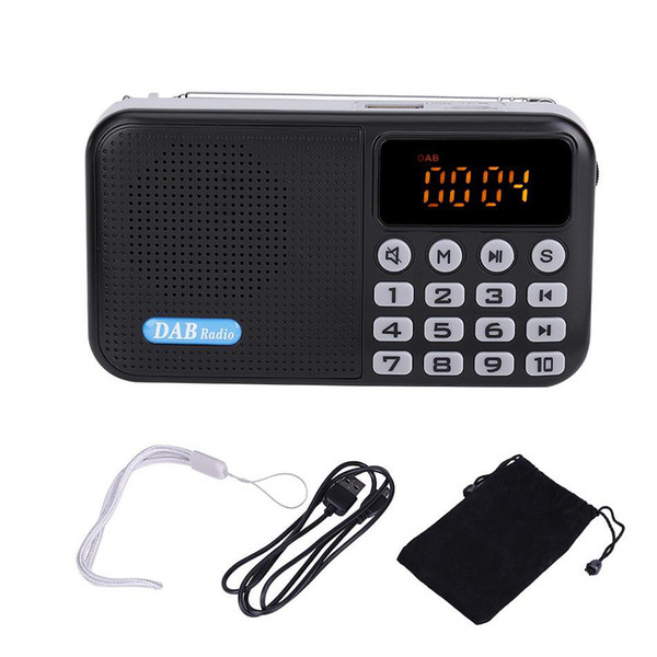 DAB+ Digital Radio Car DAB Radio Receiver FM Bluetooth Receiver Portable Pocket Stereo Music MP3 Speaker