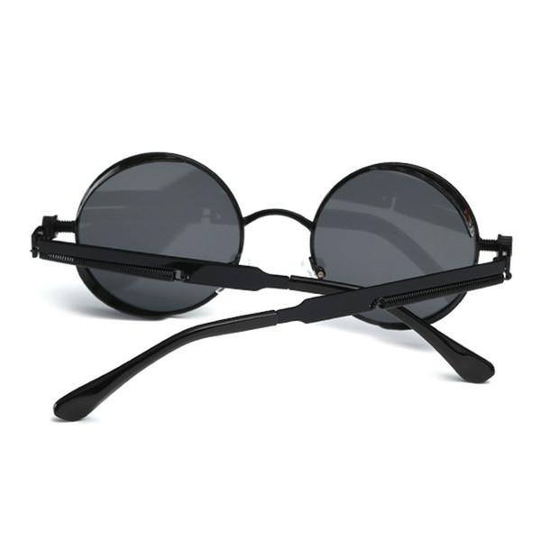 Lusso-Hong Teng Brand Designer Round donne occhiali da sole occhiali polarizzati di lusso con scatola originale Spedizione gratuita