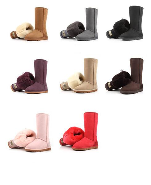 2022 Classic WGG Brand Women Popular Australia Genuine Leather Boots Fashion Women's Snow Boots US5-US12 Free Shipping